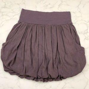Free People Dusty Purple Gauze Bubble Skirt Pocket